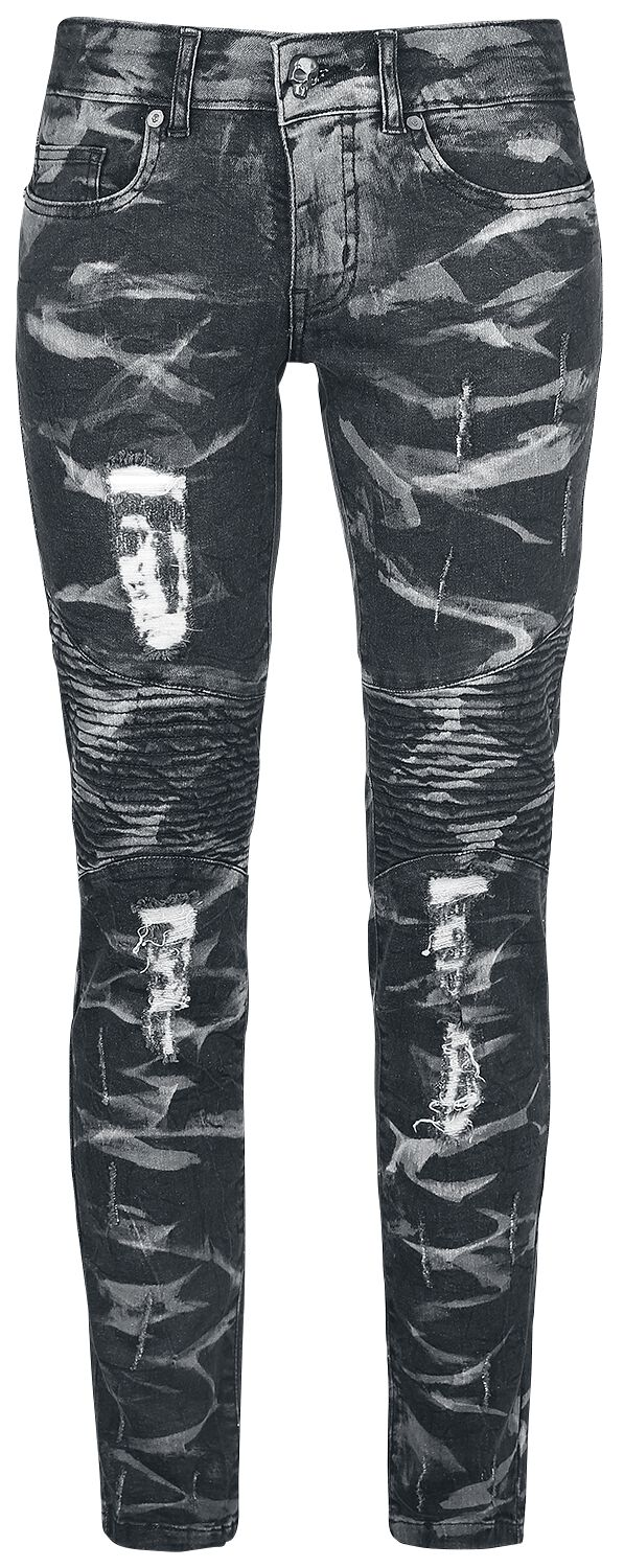 Rock Rebel by EMP Skarlett Girl-Jeans schwarz/grau