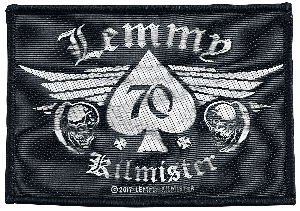 Image of   Motörhead Lemmy Kilmister - 70 Patch sort-hvid