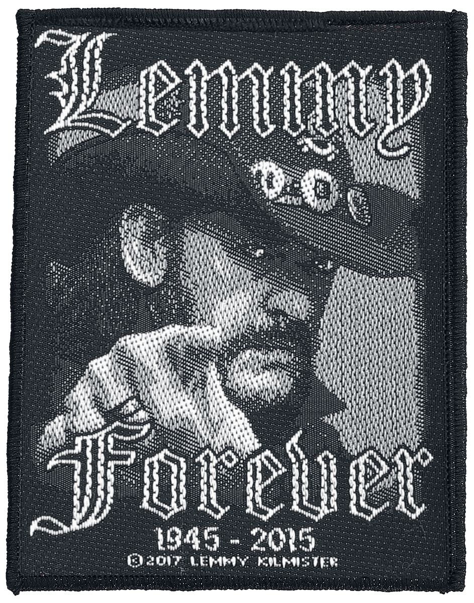 Image of   Motörhead Lemmy Kilmister - Forever Patch sort-hvid