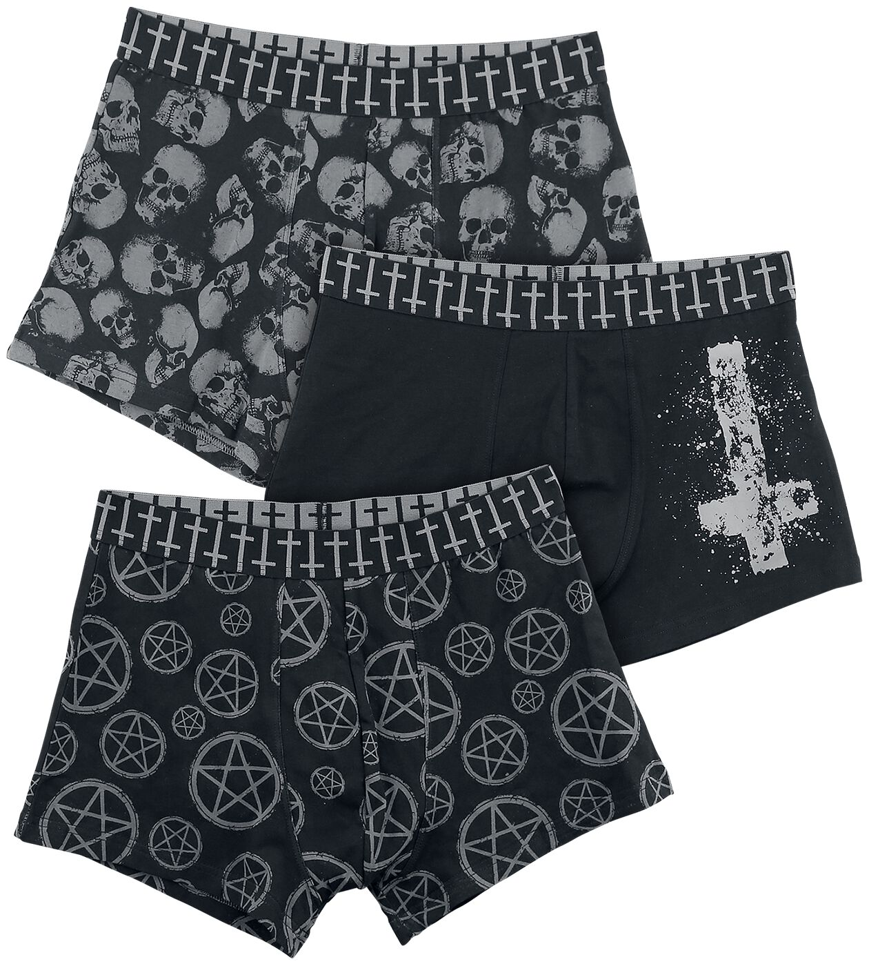 Image of   Gothicana by EMP Devil's Plaything Boxershorts sort