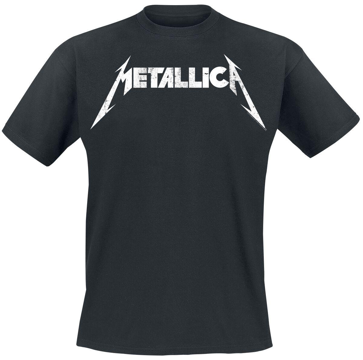 Metallica Textured Logo - Männer - schwarz