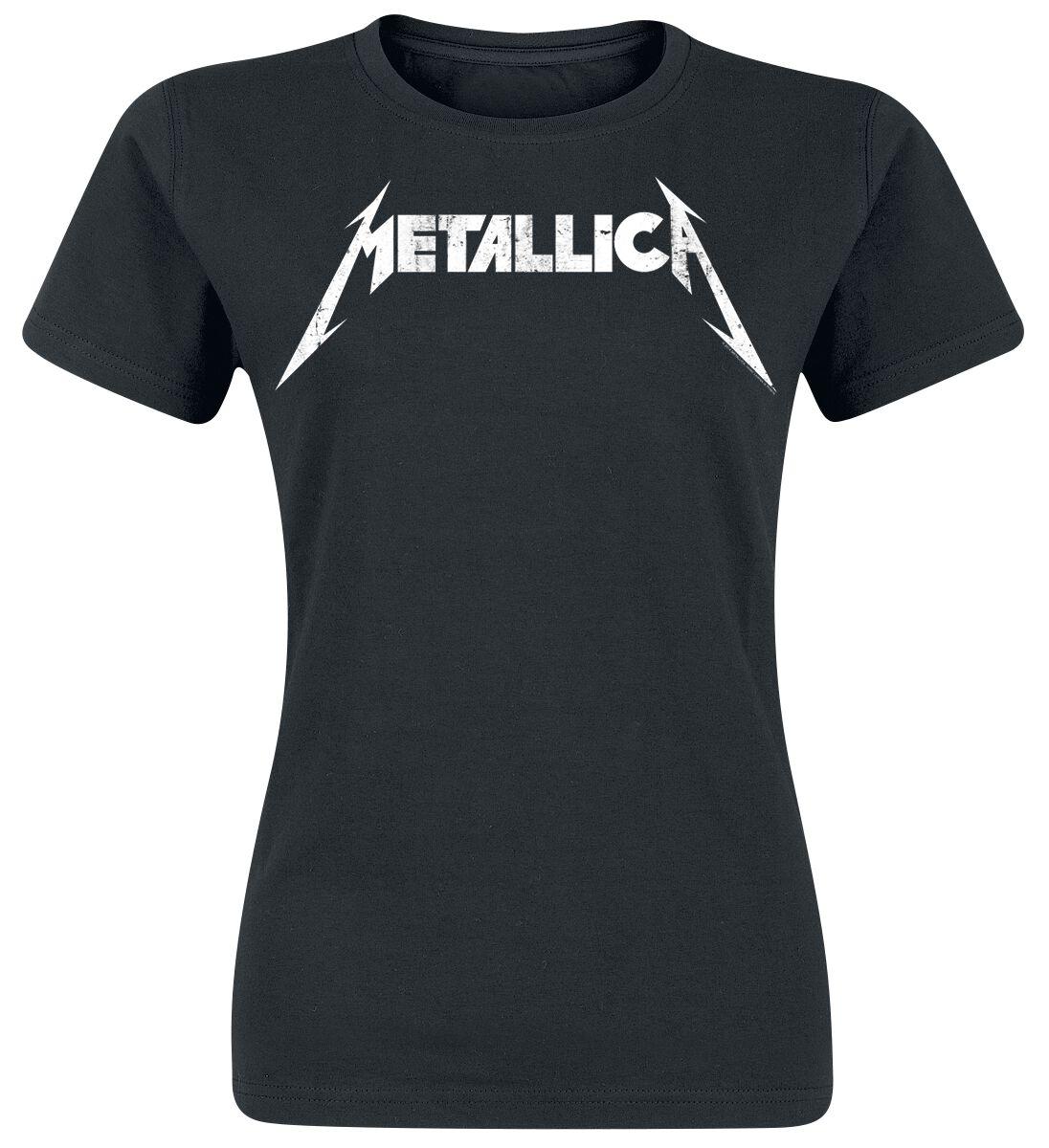 Metallica Textured Logo - Frauen - schwarz