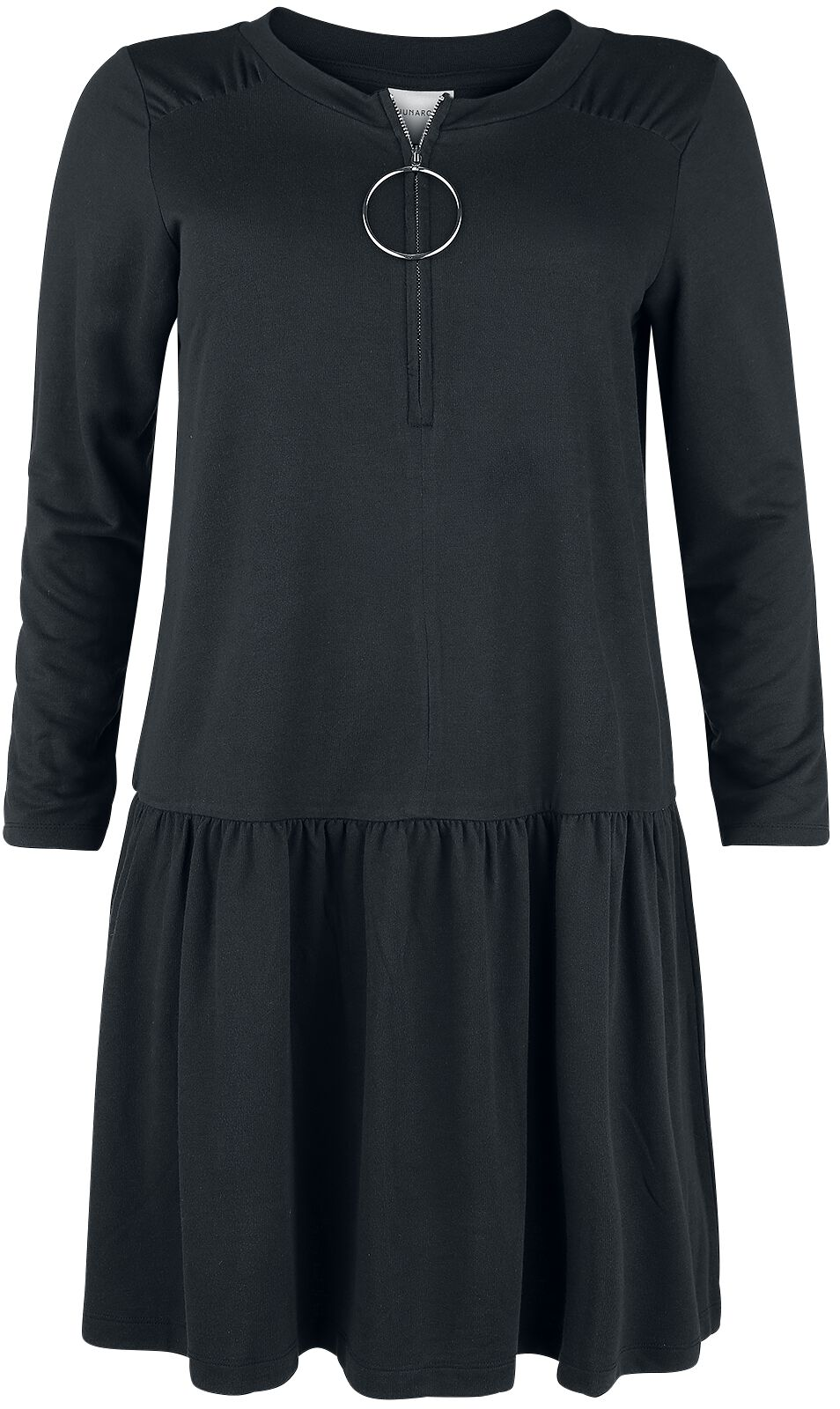 Image of   Junarose Cirkel LS Above Knee Dress Kjole sort