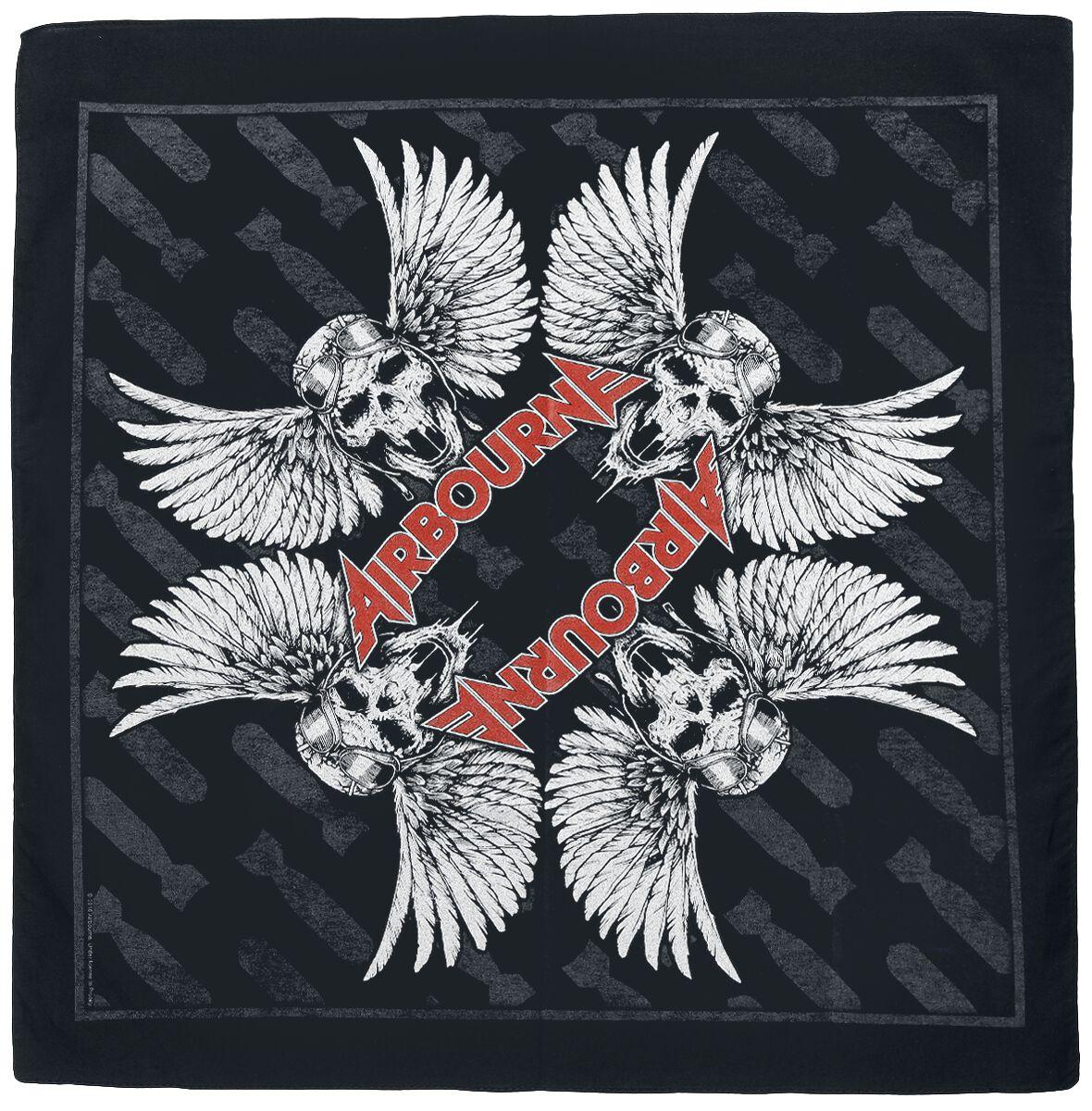 Zespoły - Czapki i Kapelusze - Bandana Airbourne Winged Skull Bandana wielokolorowy - 365017