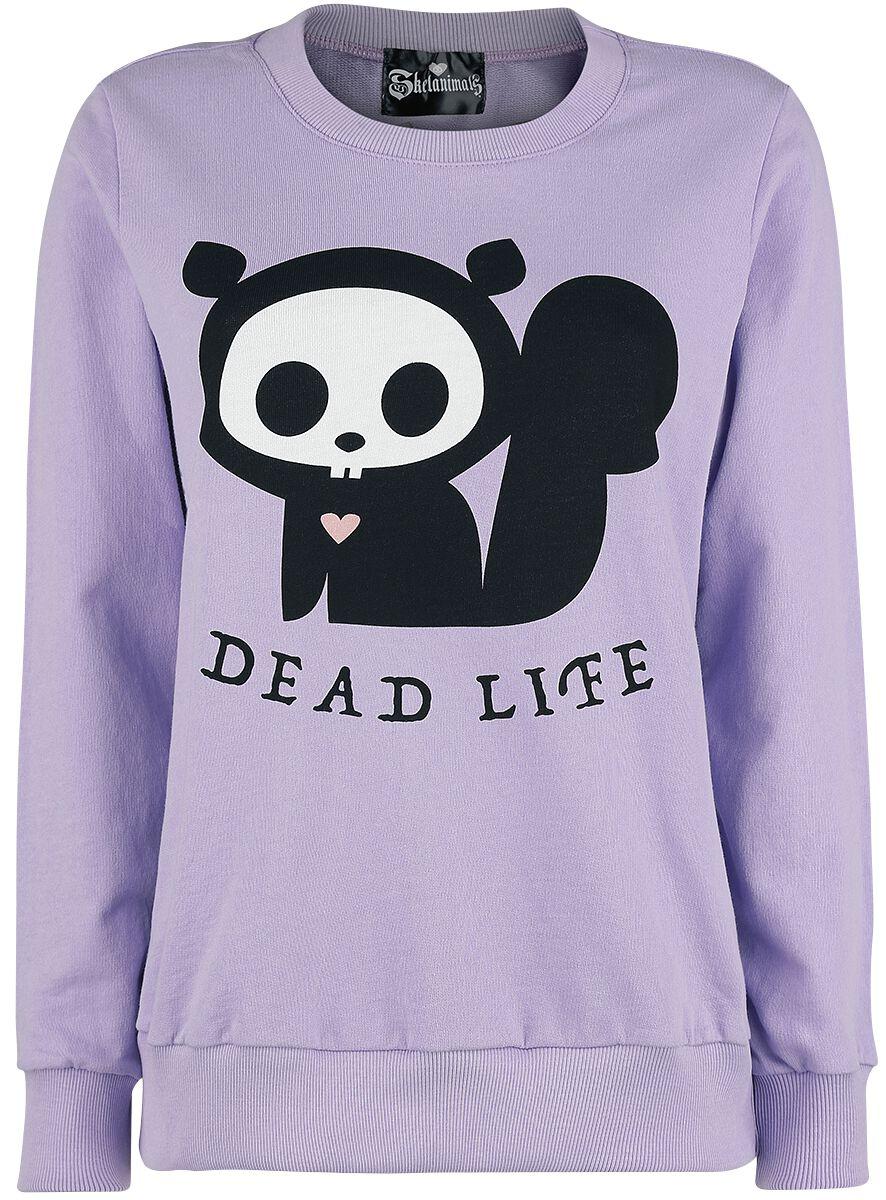 Merch dla Fanów - Bluzy - Bluza Skelanimals Dead Life Bluza jasnofioletowy (Lilac) - 365047