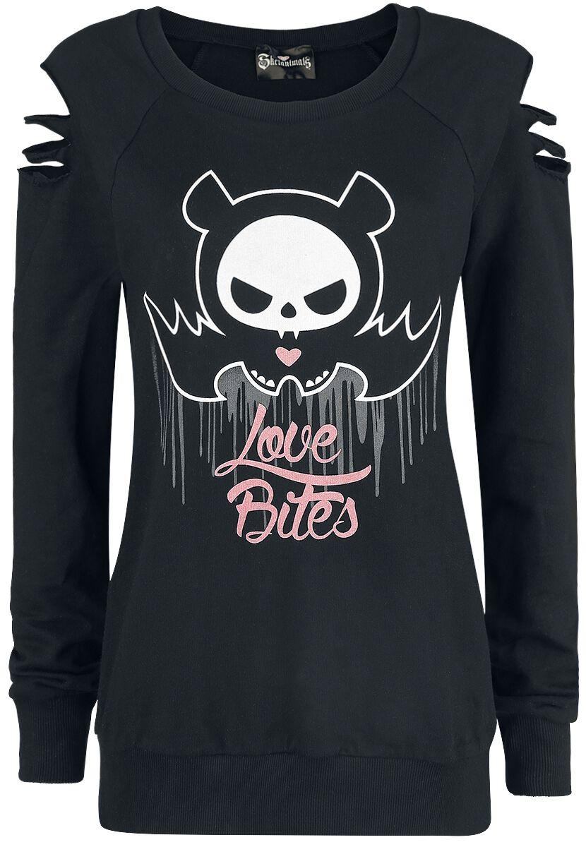 Merch dla Fanów - Bluzy - Bluza damska Skelanimals Diego The Bat - Love Bites Bluza damska czarny - 365049