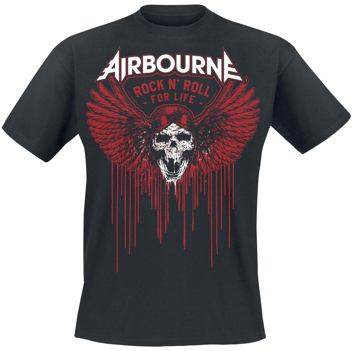 Zespoły - Koszulki - T-Shirt Airbourne Blood Wings T-Shirt czarny - 365071