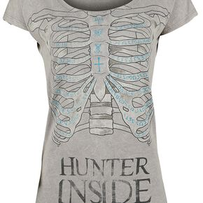 Supernatural Hunter Inside T-shirt Femme gris
