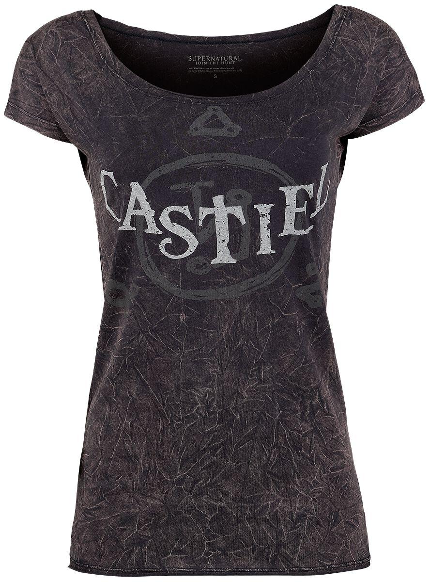 Supernatural Castiel Koszulka damska ciemnoszary