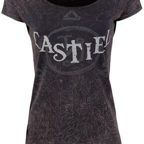 Supernatural Castiel T-shirt Femme gris foncé
