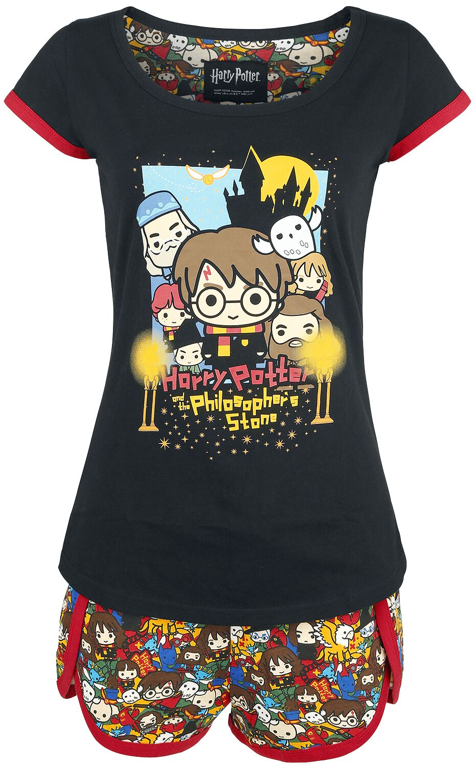 Image of   Harry Potter Chibi Allover Pyjamas multifarvet