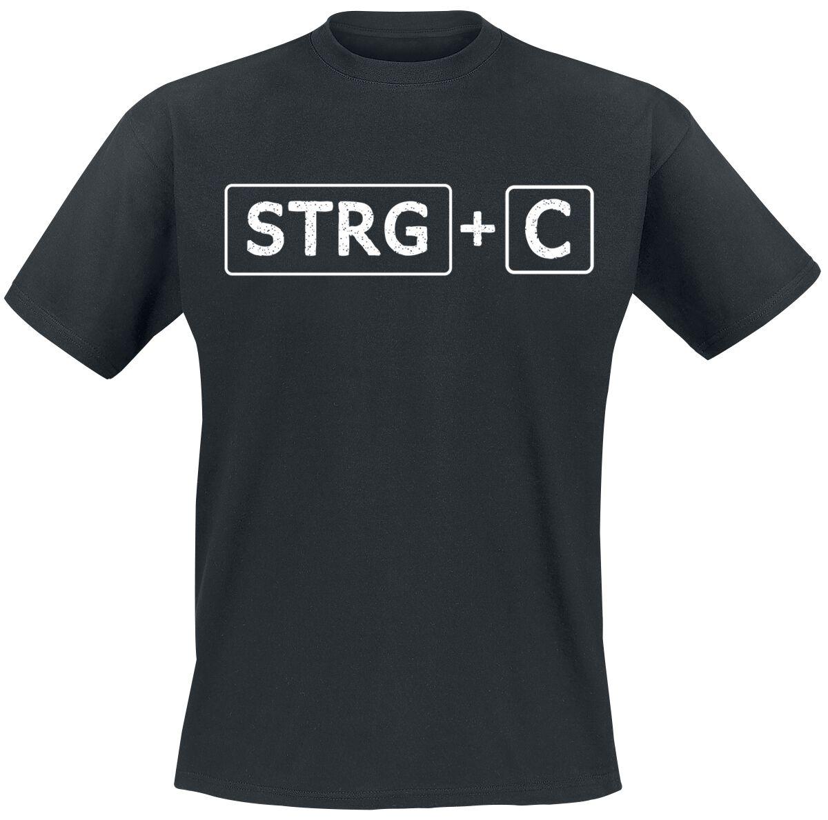 Fun Shirts - Koszulki - T-Shirt Family STRG + C T-Shirt czarny - 365097