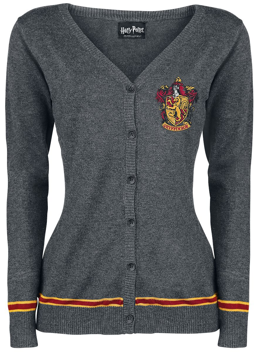 Image of   Harry Potter Gryffindor Crest Pigecardigan grålig