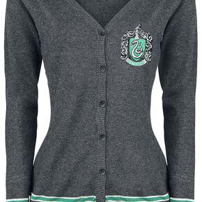 Harry Potter Emblème de Serpentard Cardigan pour Femme gris chiné