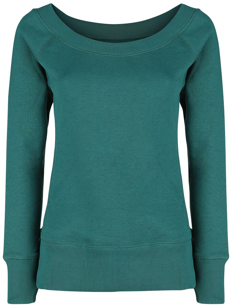 Image of   RED by EMP Come On Get It Girlie sweatshirt petrol