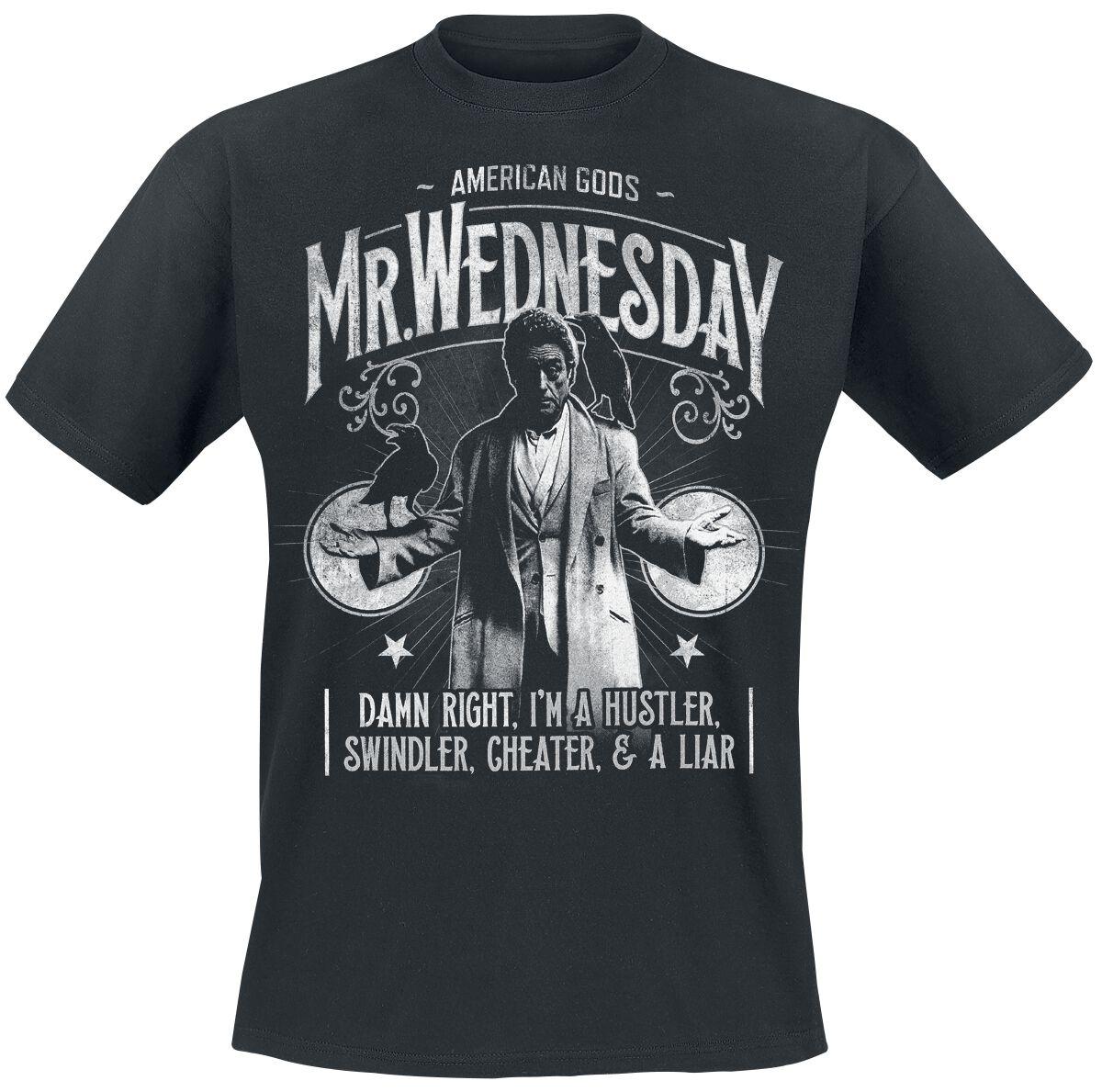 Merch dla Fanów - Koszulki - T-Shirt American Gods Mr. Wednesday T-Shirt czarny - 365289