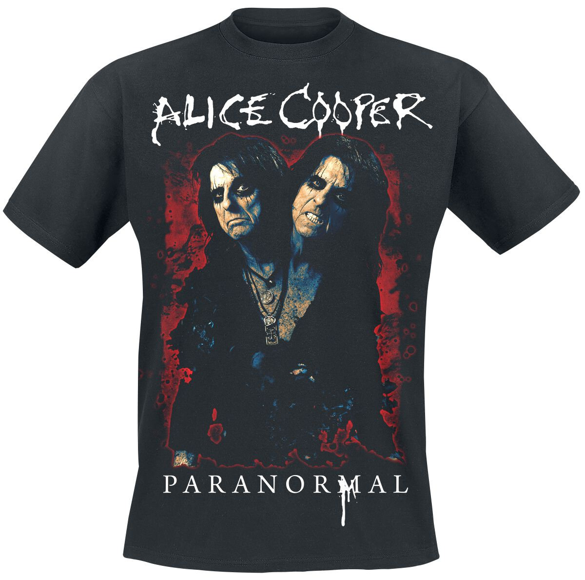 Zespoły - Koszulki - T-Shirt Alice Cooper Paranormal Splatter T-Shirt czarny - 365293