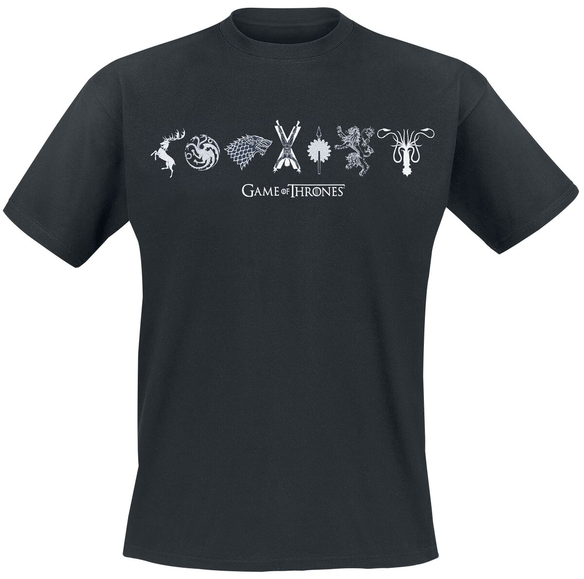 Image of   Game Of Thrones Horizontal Sigils T-Shirt sort