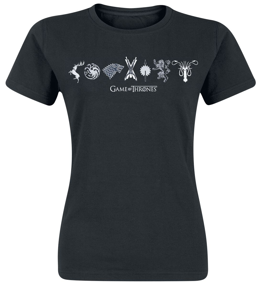 Image of   Game Of Thrones Horizontal Sigils Girlie trøje sort