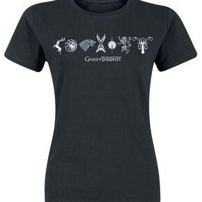 Game Of Thrones Horizontal Sigils T-shirt Femme noir