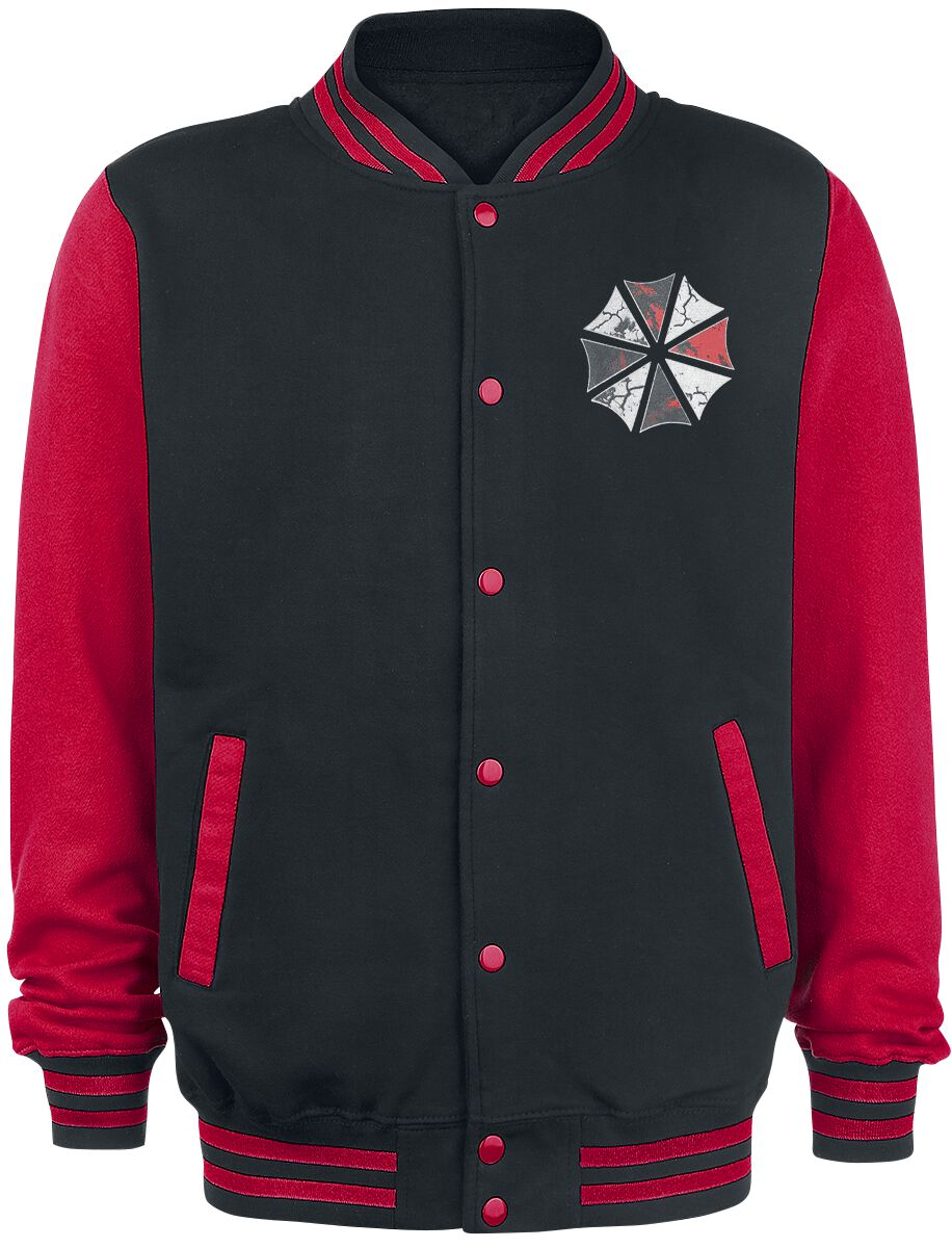 Merch dla Fanów - Kurtki - College Jacket Resident Evil Umbrella College Jacket czarny/czerwony - 365356