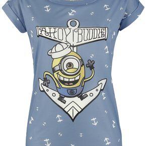 Les Minions Ahoy Buddie T-shirt Femme multicolore