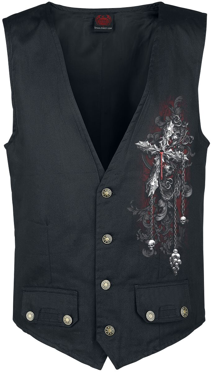 Image of   Spiral Cross of Darkness Vest sort