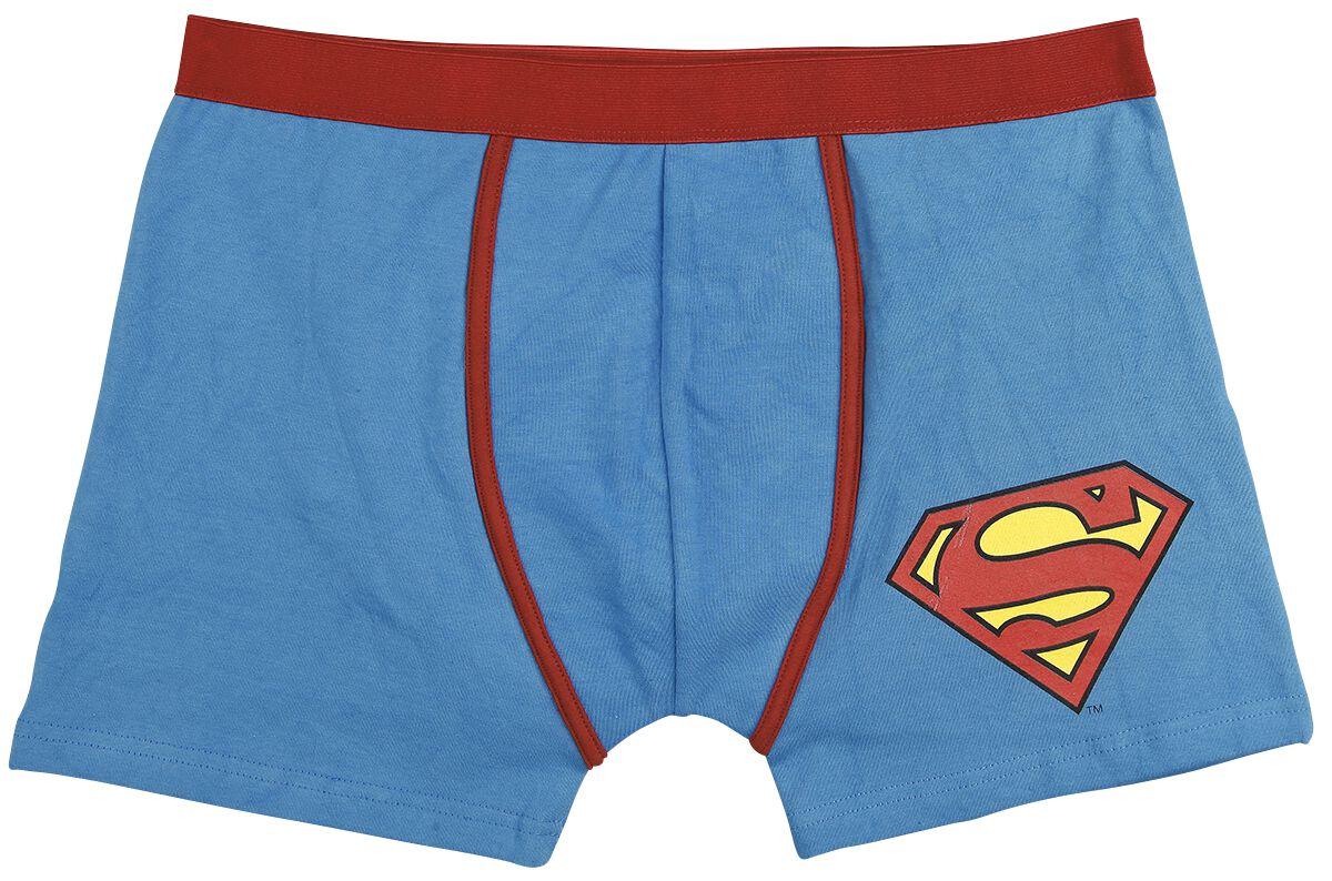 Merch dla Fanów - Bielizna - Bokserki Superman Logo Bokserki niebieski/czerwony - 365430