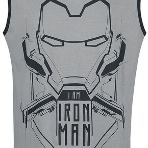 Iron Man I Am Iron Man Débardeur gris/noir