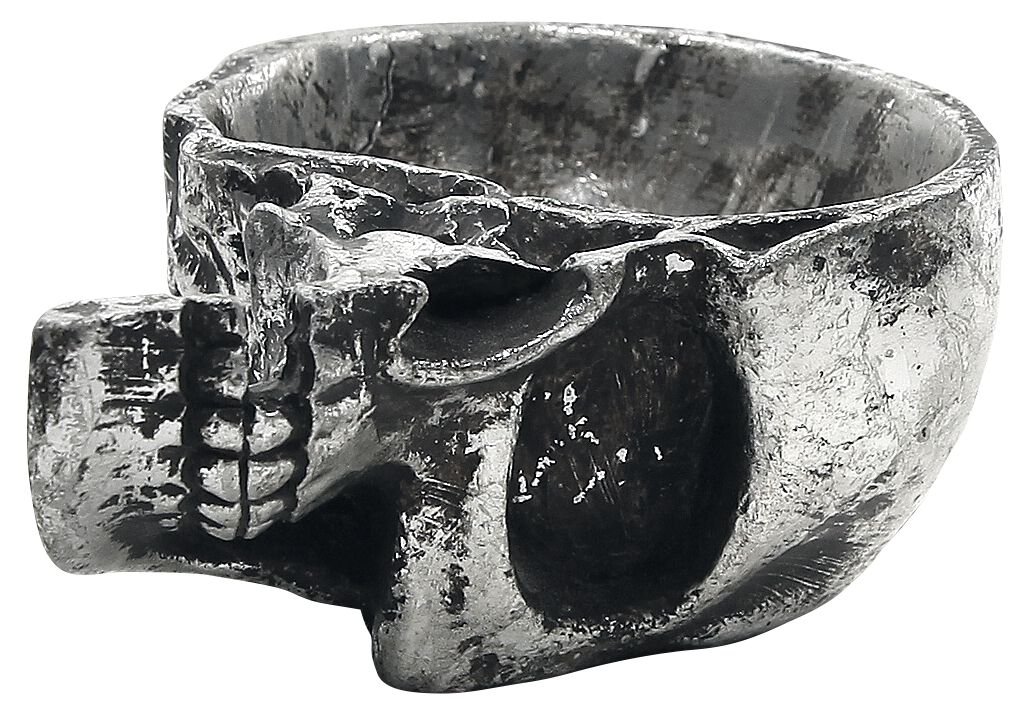 Image of   Alchemy Gothic Half Skull - Trinket Dish Dekorationsartikel Standard