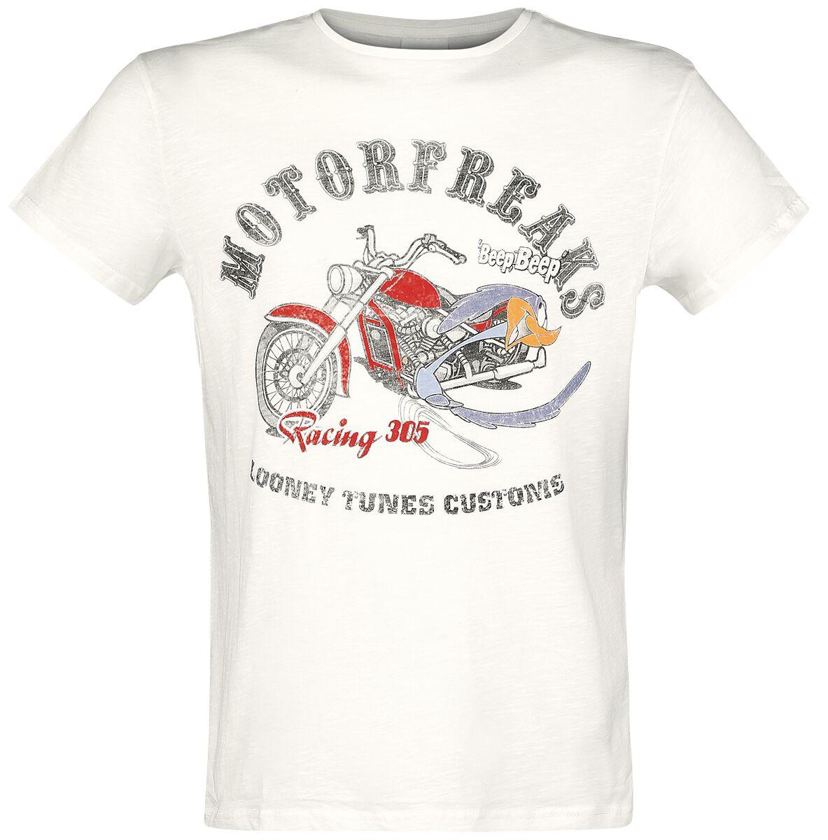 Merch dla Fanów - Koszulki - T-Shirt Looney Tunes Roadrunner T-Shirt odcienie białego (Old White) - 365457