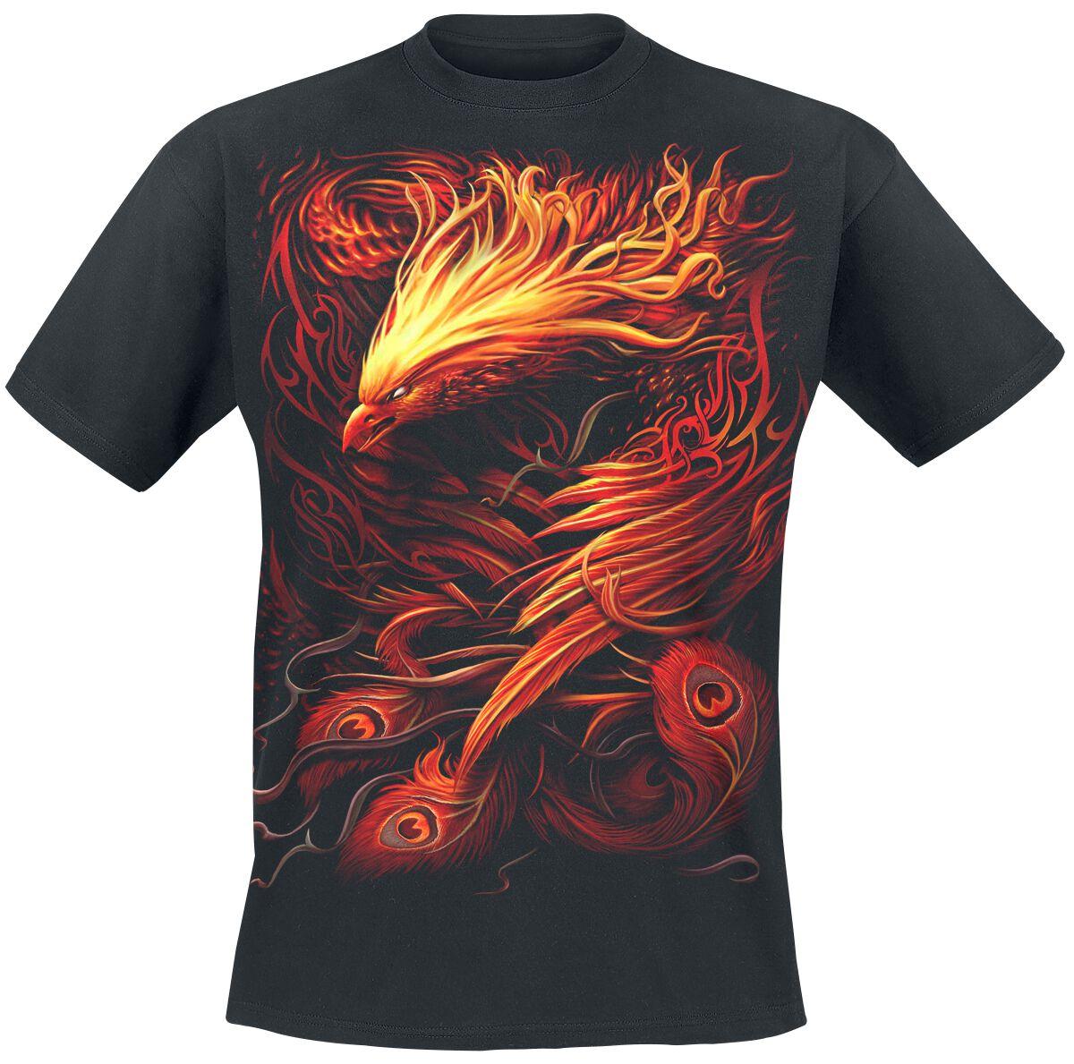 Image of   Spiral Phoenix Arisen T-Shirt sort