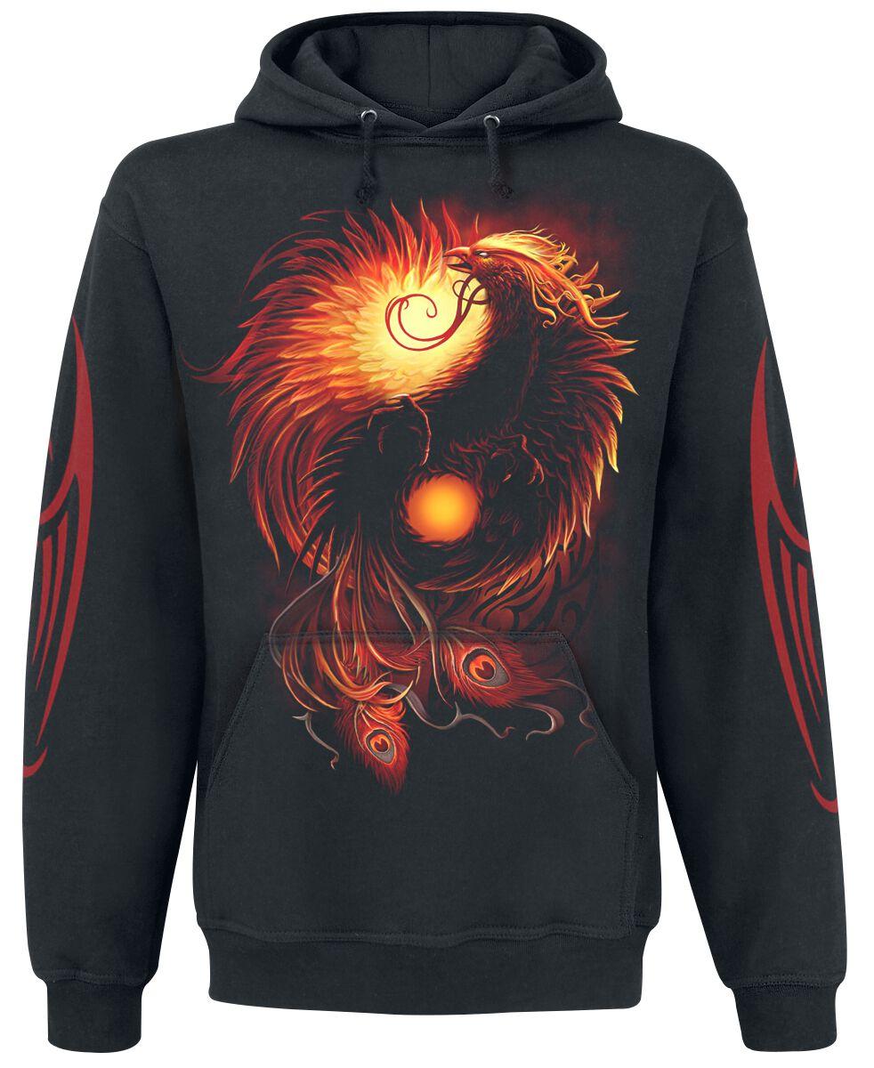 Image of   Spiral Phoenix Arisen Hættetrøje sort
