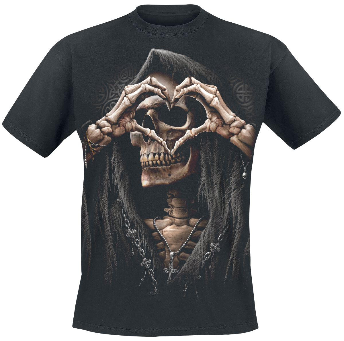 Image of   Spiral Dark Love T-Shirt sort