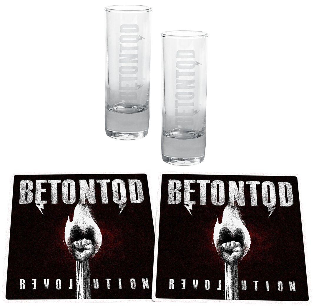 Image of   Betontod Revolution Shotglas, sæt gennemsigtig
