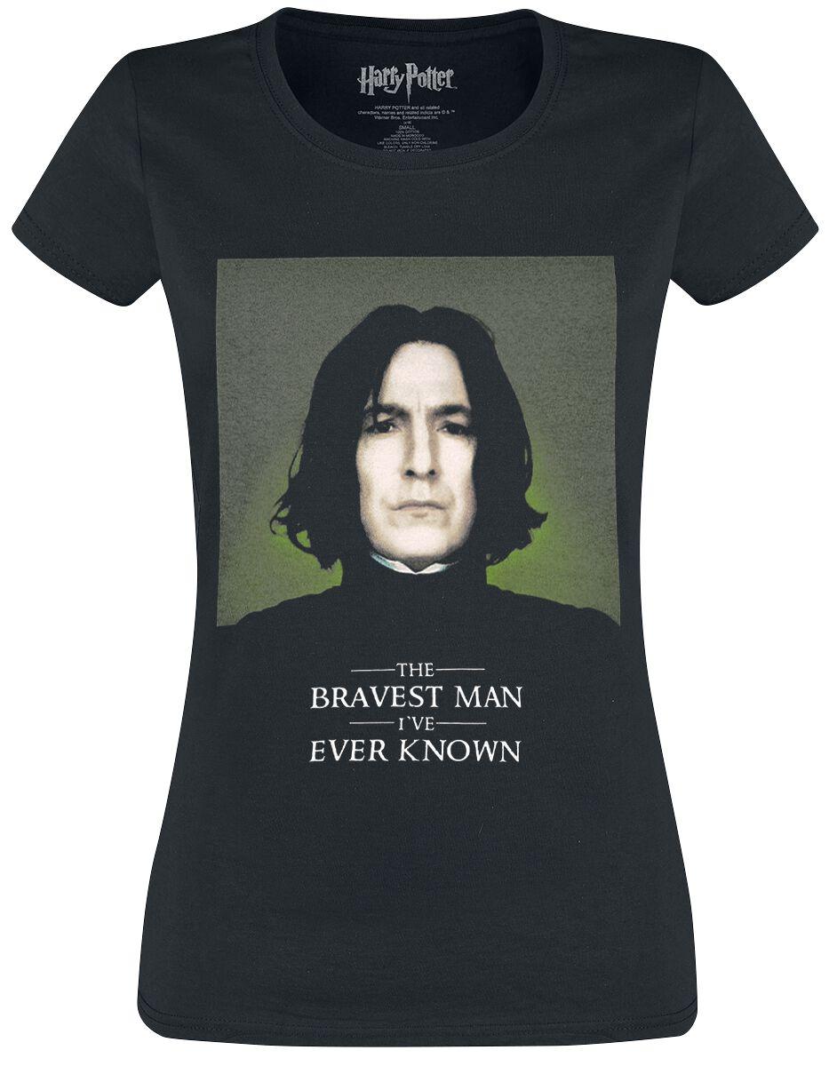 Harry Potter Snape The Bravest Man Koszulka damska czarny