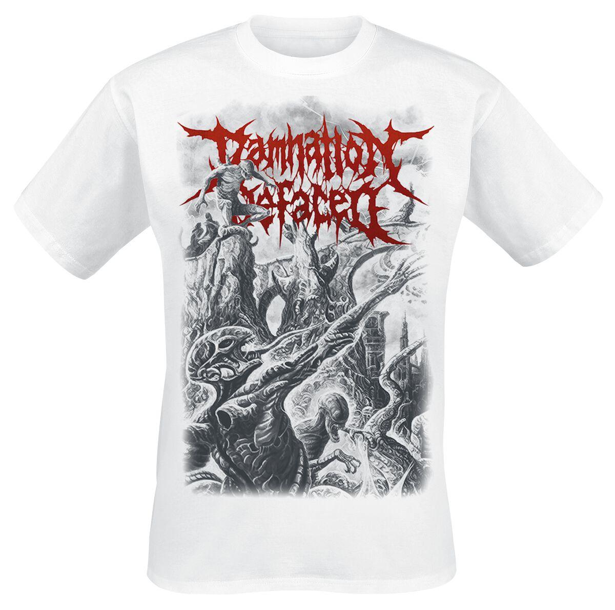 Zespoły - Koszulki - T-Shirt Damnation Defaced Invader from beyond T-Shirt biały - 365636