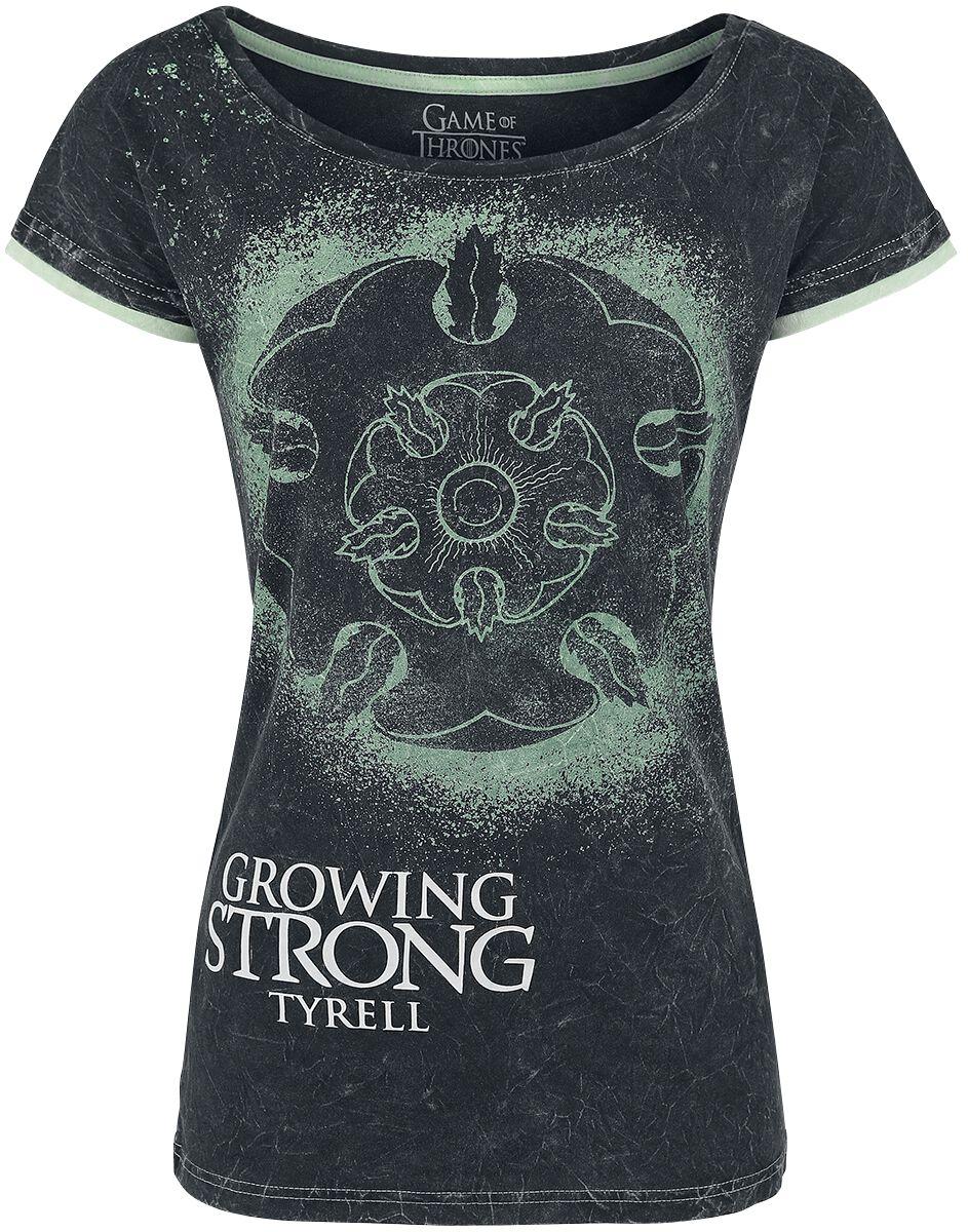 Gra o Tron Tyrell - Growing Strong Koszulka damska ciemnoszary