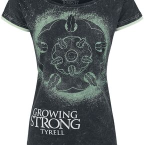 Game Of Thrones Tyrell - Growing Strong T-shirt Femme gris foncé