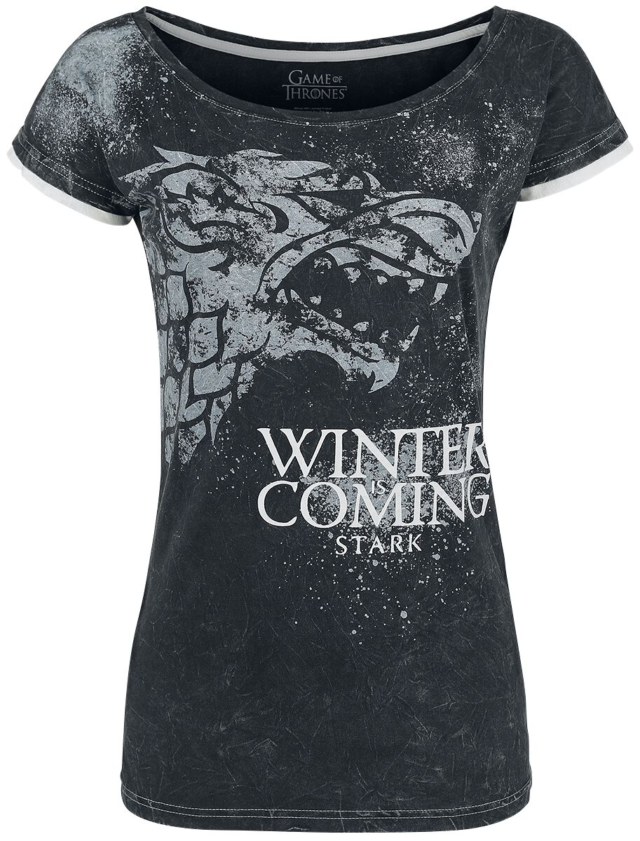 Image of   Game Of Thrones Stark - Winter Is Coming Girlie trøje mørk grå