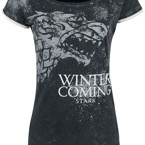 Game Of Thrones Stark - Winter Is Coming T-shirt Femme gris foncé