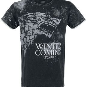 Game Of Thrones Stark - Winter Is Coming T-shirt gris foncé