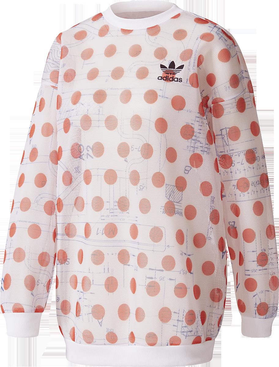 Adidas Osaka Sweatshirt Bluza damska biały/czerwony