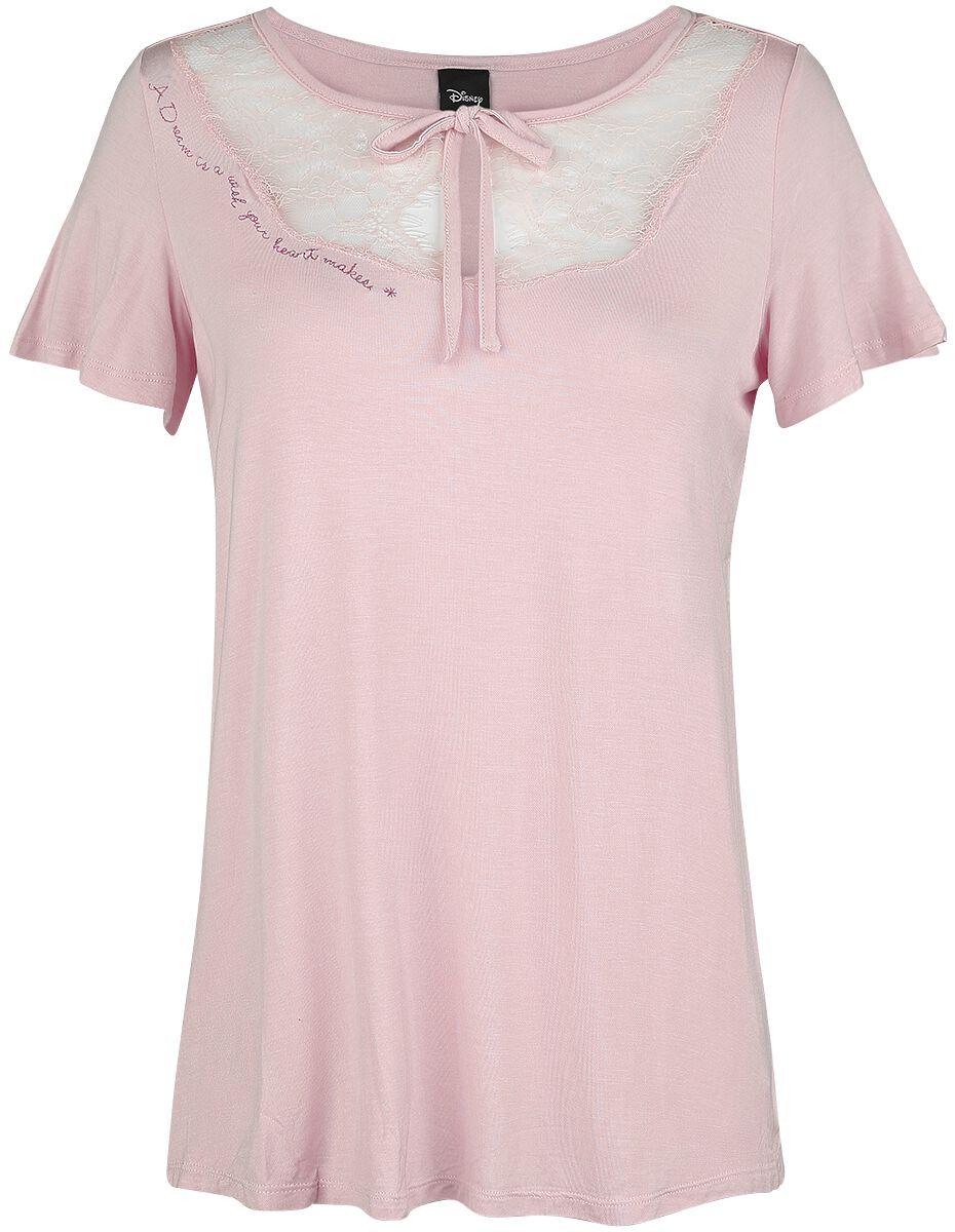 Image of   Disney Princess A Dream Is A Wish Girlie trøje lys pink