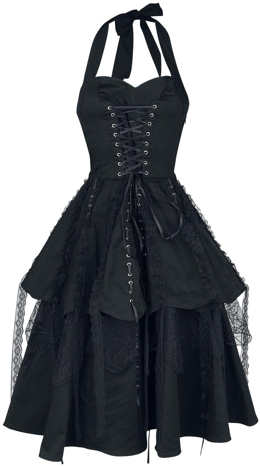 H&R London Pretty Pirate Long Dress Sukienka czarny