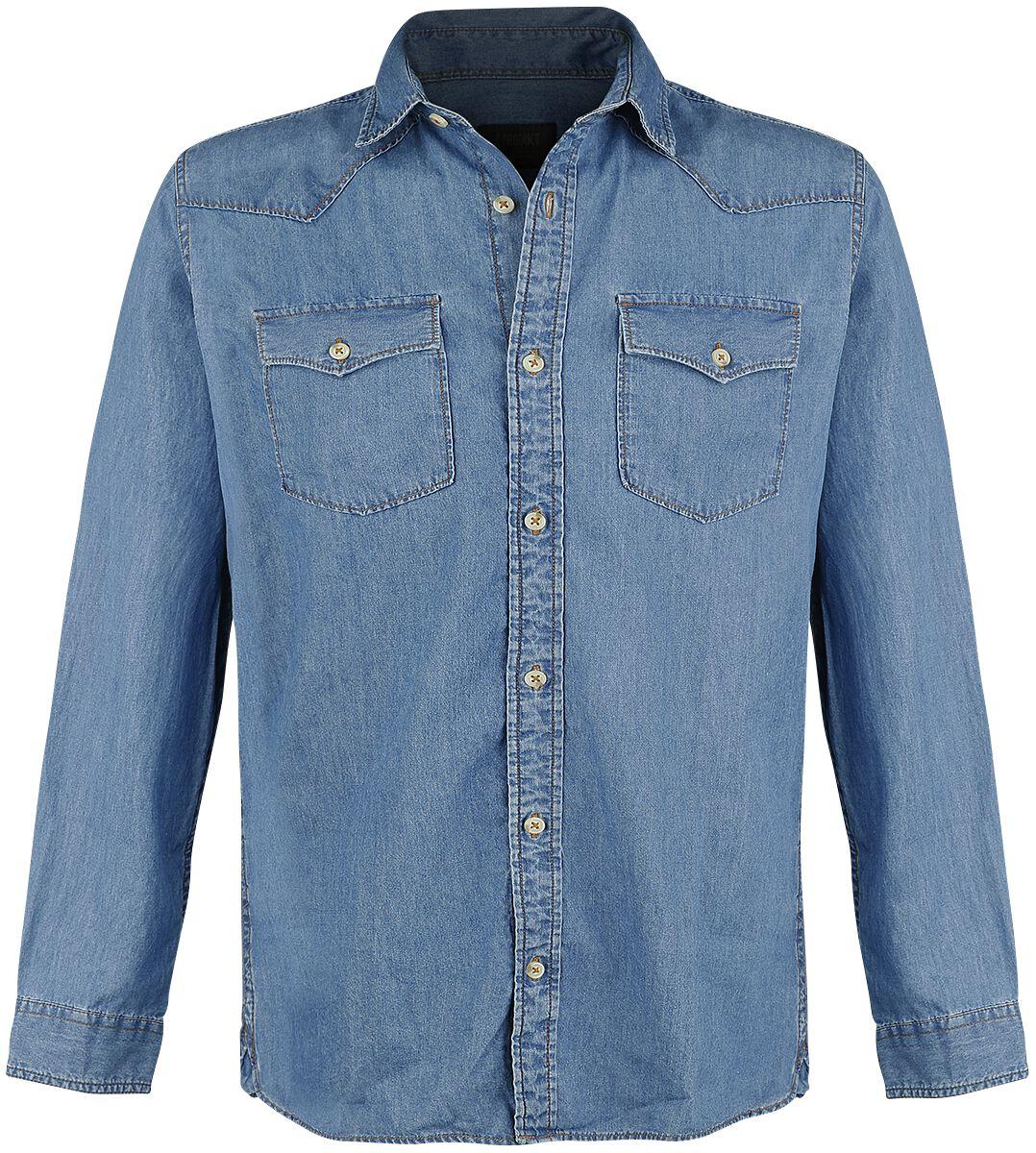 Marki - Koszule z długim rękawem - Koszula Produkt Next Western Shirt Koszula niebieski - 365777