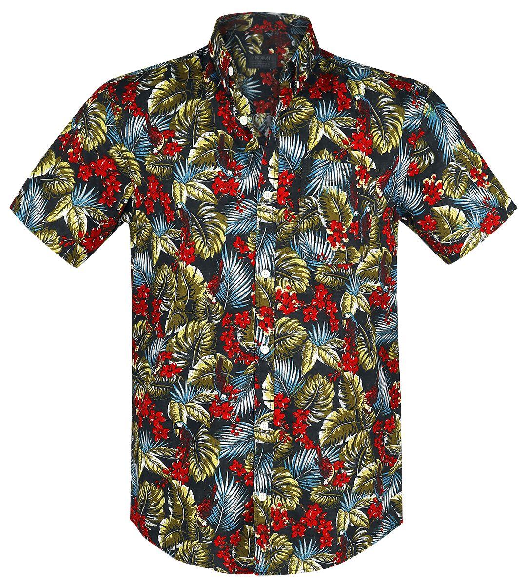 Marki - Koszule z krótkim rękawem - Workershirt Produkt York AOP Shirt Workershirt wielokolorowy - 365793