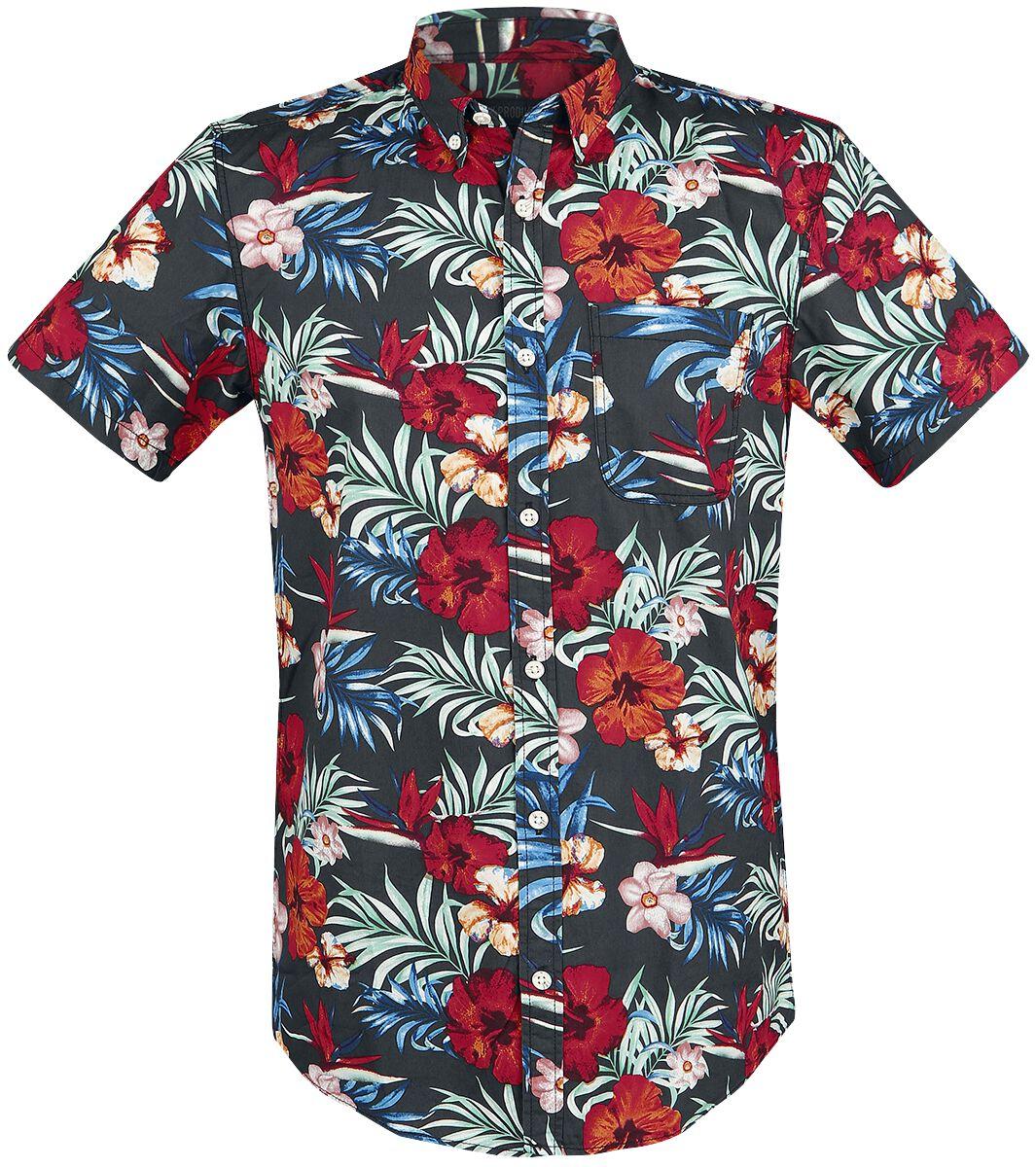 Marki - Koszule z krótkim rękawem - Workershirt Produkt York AOP Shirt Workershirt wielokolorowy - 365794