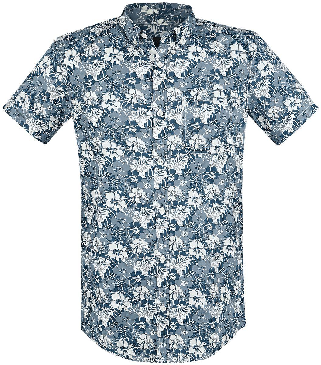 Marki - Koszule z krótkim rękawem - Workershirt Produkt York AOP Shirt Workershirt wielokolorowy - 365795