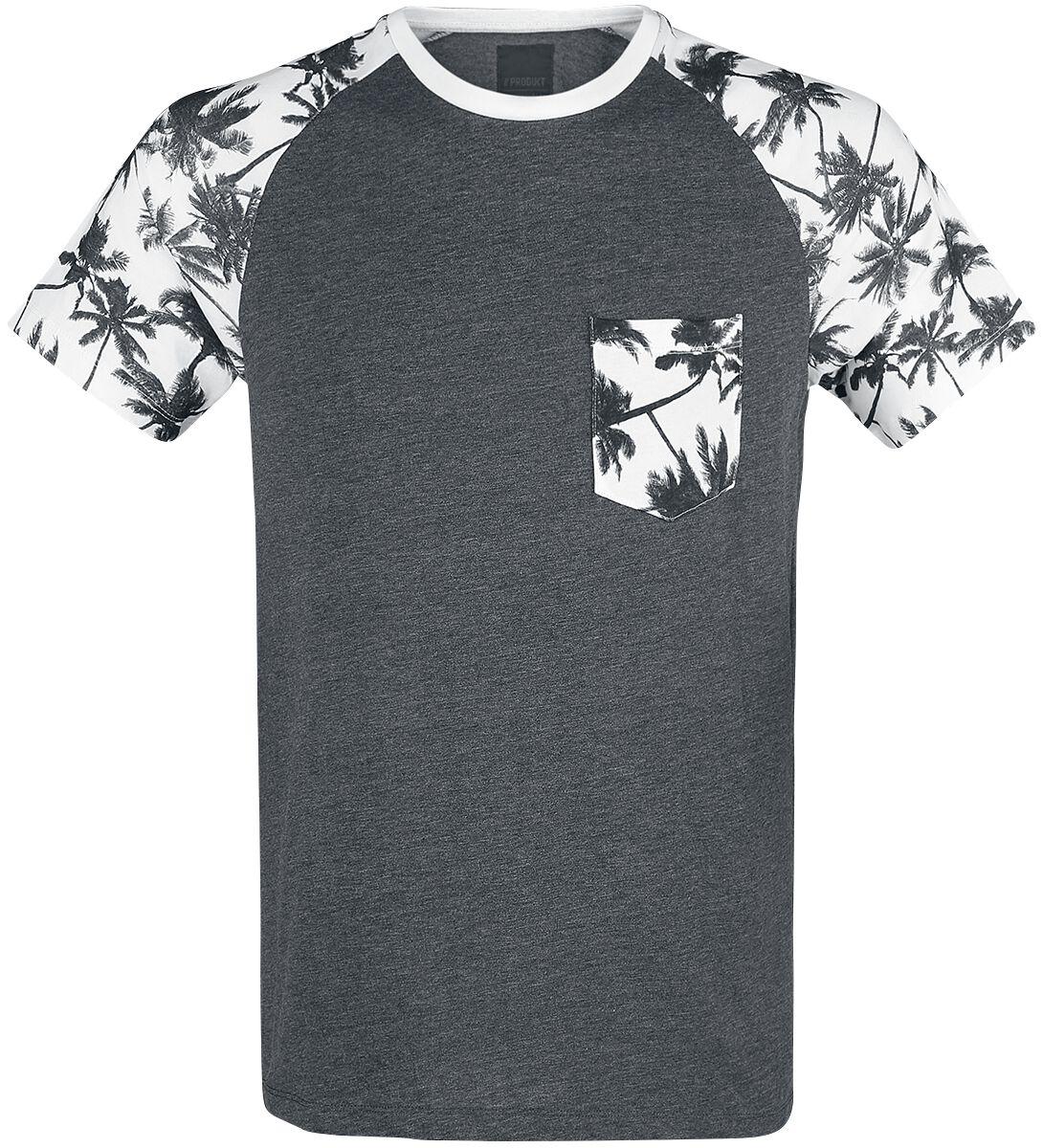Marki - Koszulki - T-Shirt Produkt Palm Raglan Tee T-Shirt odcienie ciemnoszarego - 365801